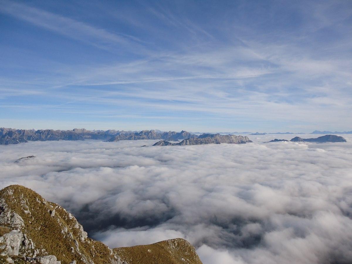 panorama trekking in Alpago