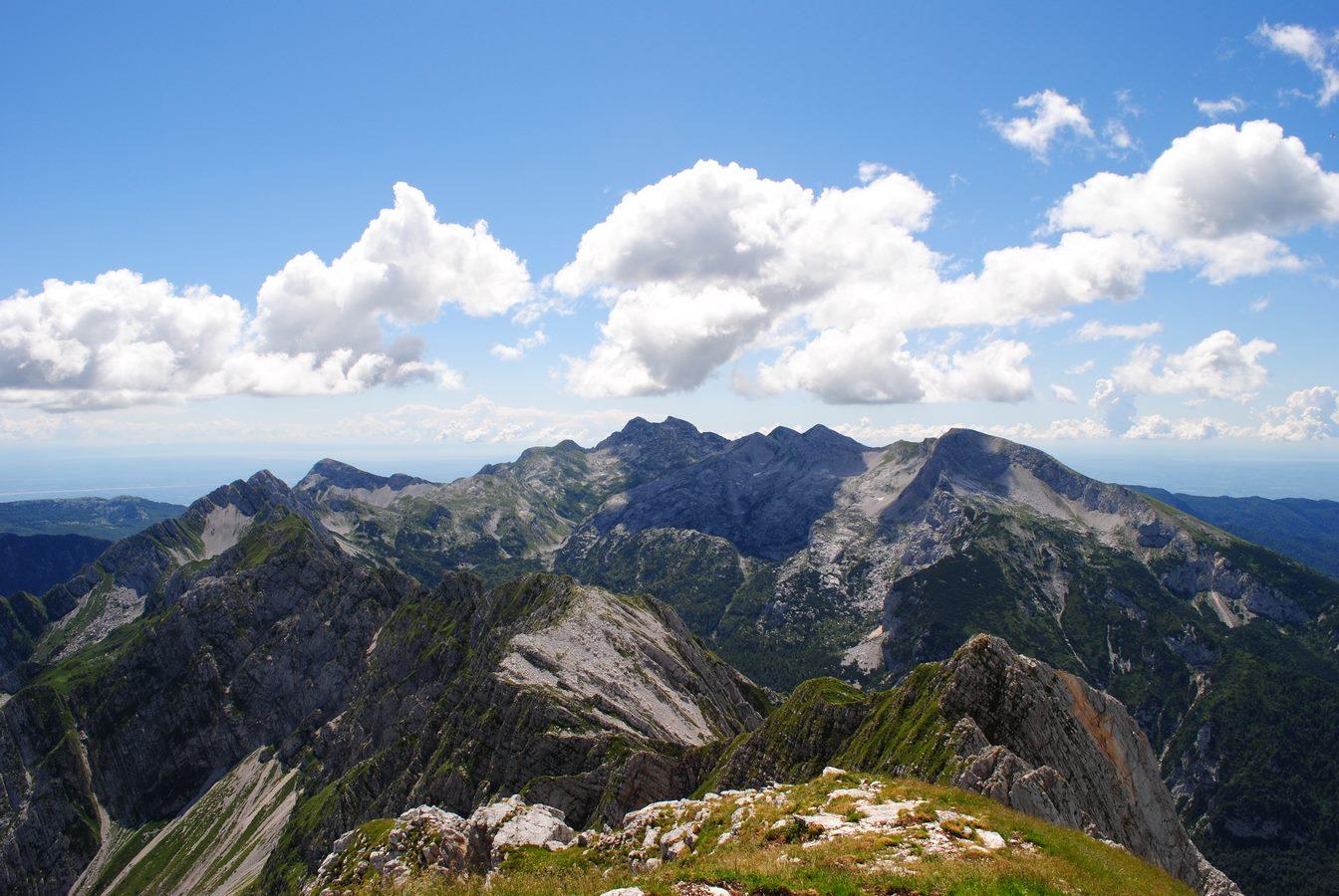 Panorama dal Monte Messer in Alpago